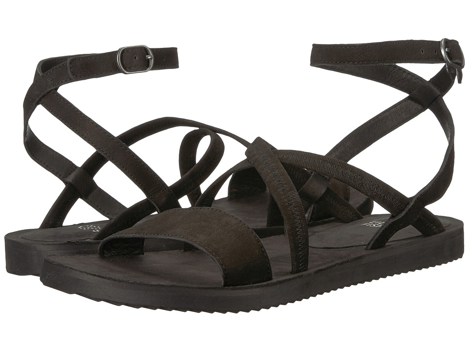 Eileen Fisher June (Black Tumbled Nubuck) Sandals