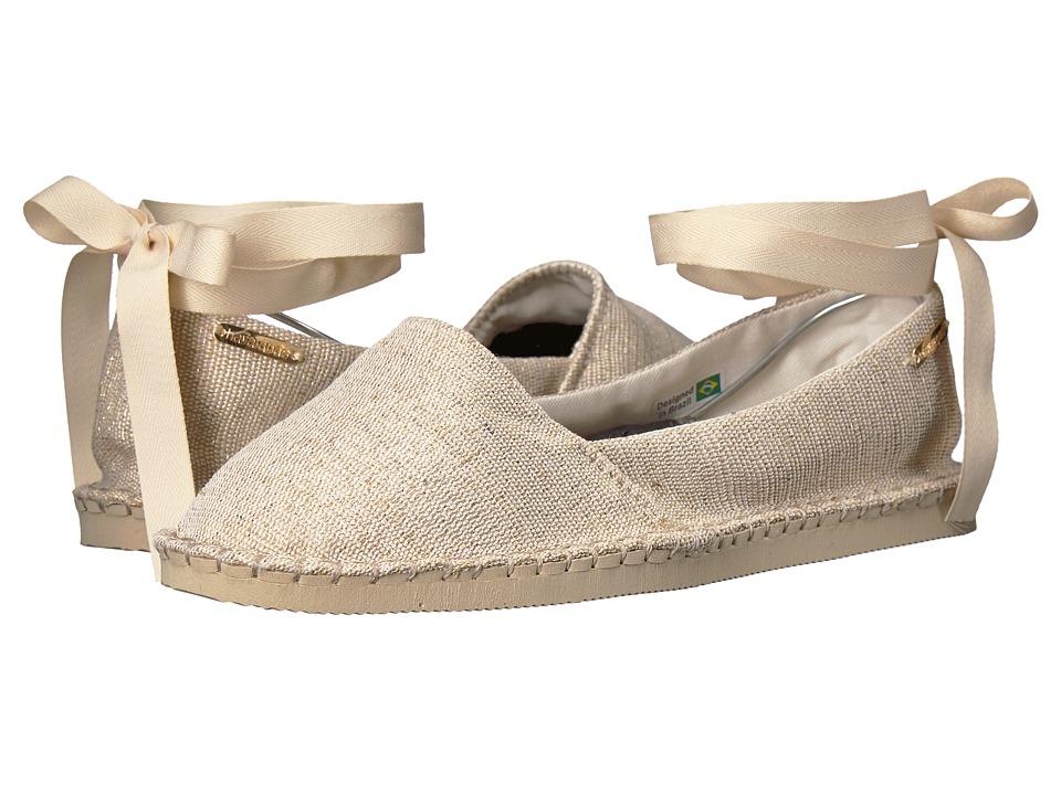 Havaianas - Origine Slim Shine Espadrille (Beige) Womens Shoes