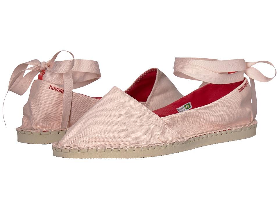 Havaianas - Origine Slim Espadrille (Ballet Rose) Womens Flat Shoes