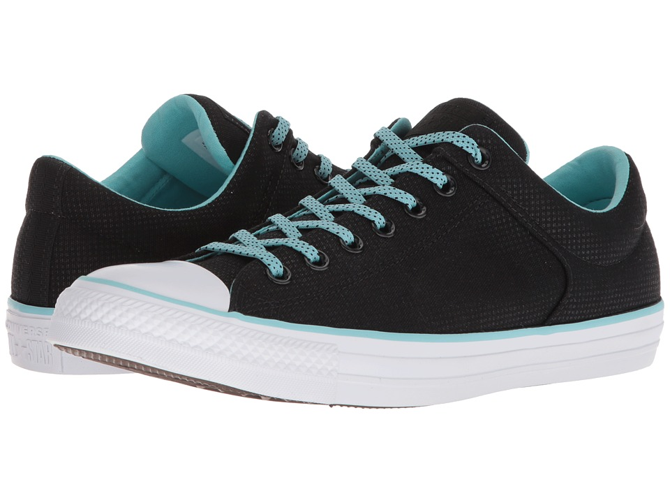 Converse - Chuck Taylor(r) All Star(r) High Street Ox (Black/Bleached Aqua/White) Shoes
