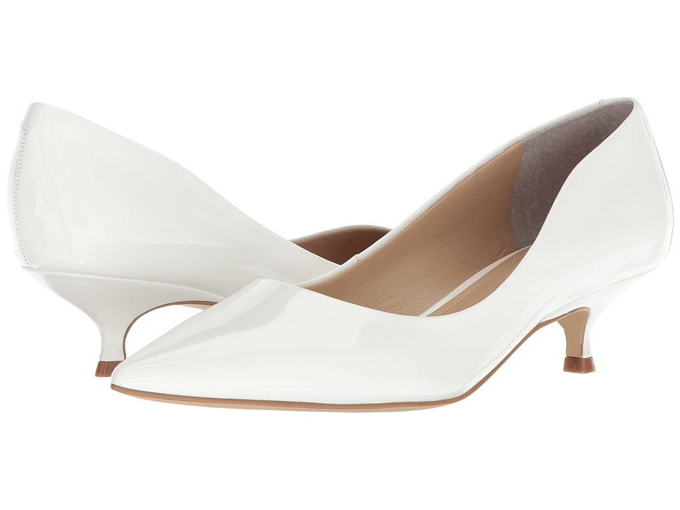 Vintage Wedding Shoes, Flats, Boots, Heels Marc Fisher LTD - Xanthe White Patent Womens Sandals $149.95 AT vintagedancer.com