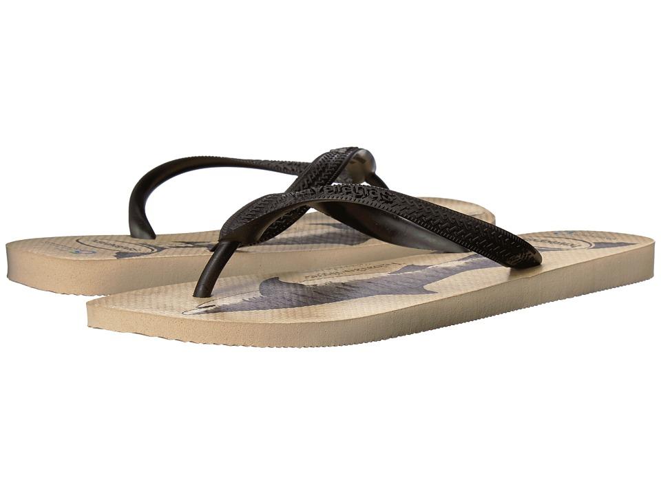 Havaianas - Conservation International Flip-Flops (Beige/Black) Mens Sandals