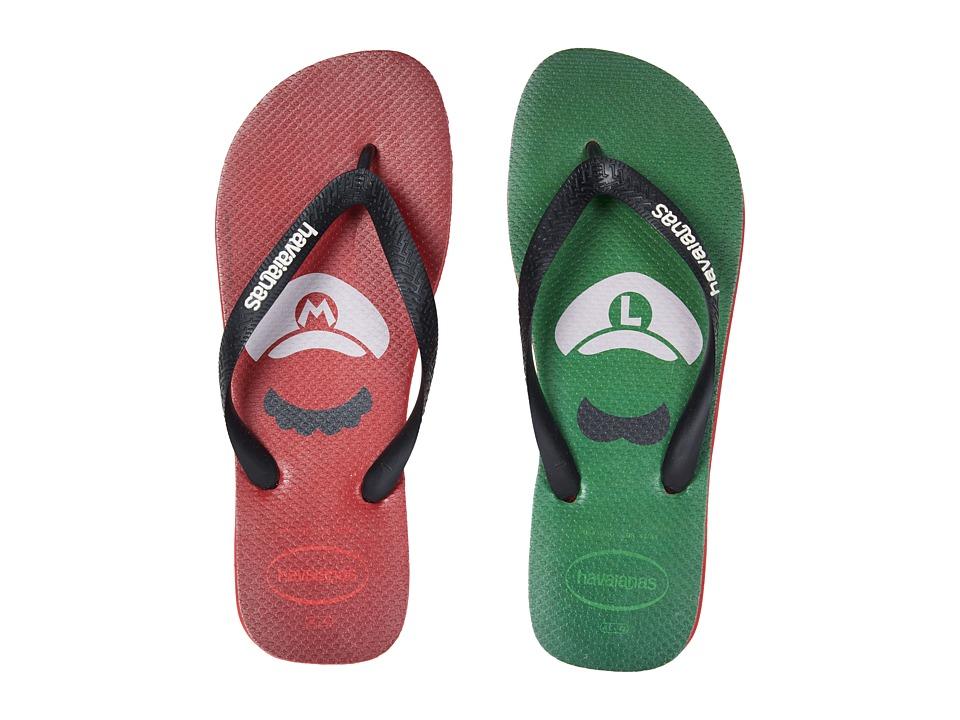 Havaianas - Mario Bros Flip-Flops (Ruby Red) Men's Sandals