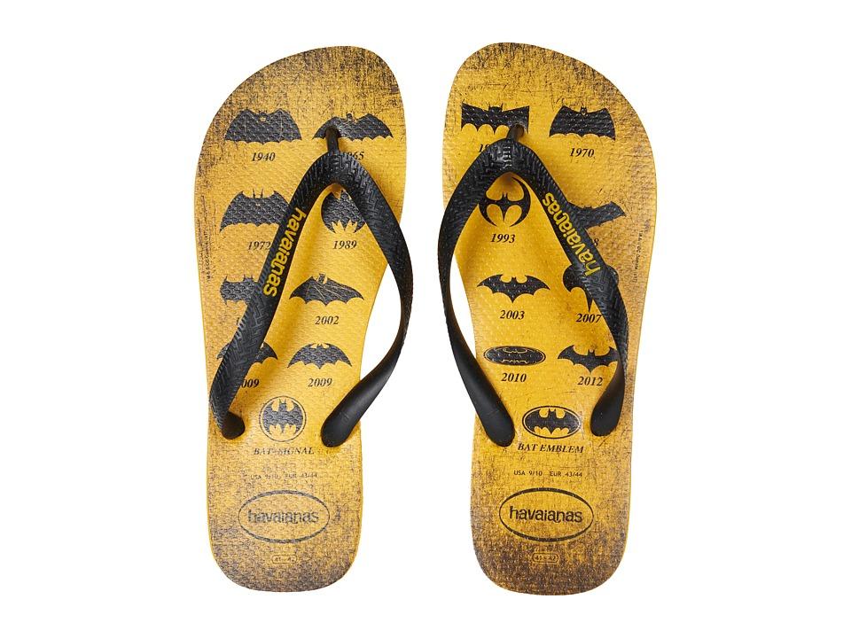 Havaianas - Batman Flip-Flops (Banana Yellow) Men's Sandals
