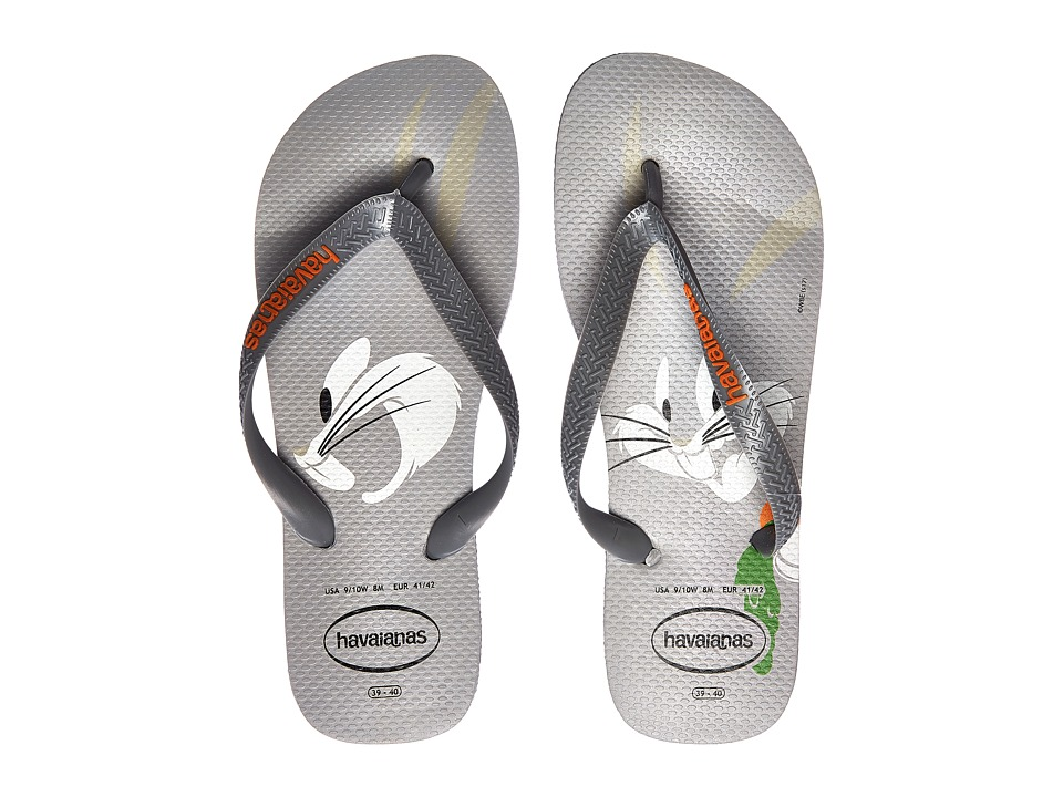 Havaianas - Looney Tunes Flip-Flops (Ice Grey) Men's Sandals