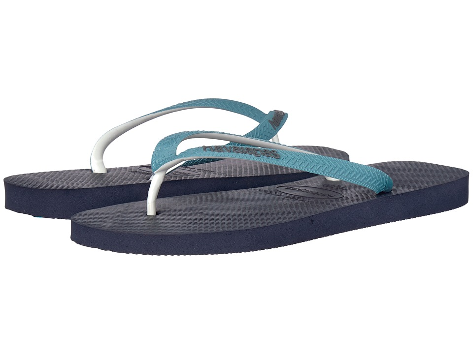 Havaianas - Top Mix Flip Flops (Navy Blue/Mineral Blue) Mens Sandals