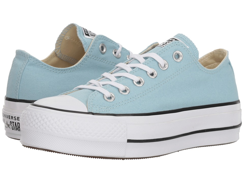 ee024fd74dbb Converse Chuck Taylor(r) All Star(r) Lift Ox (Ocean Bliss-White-Black)  Womens Classic Shoes