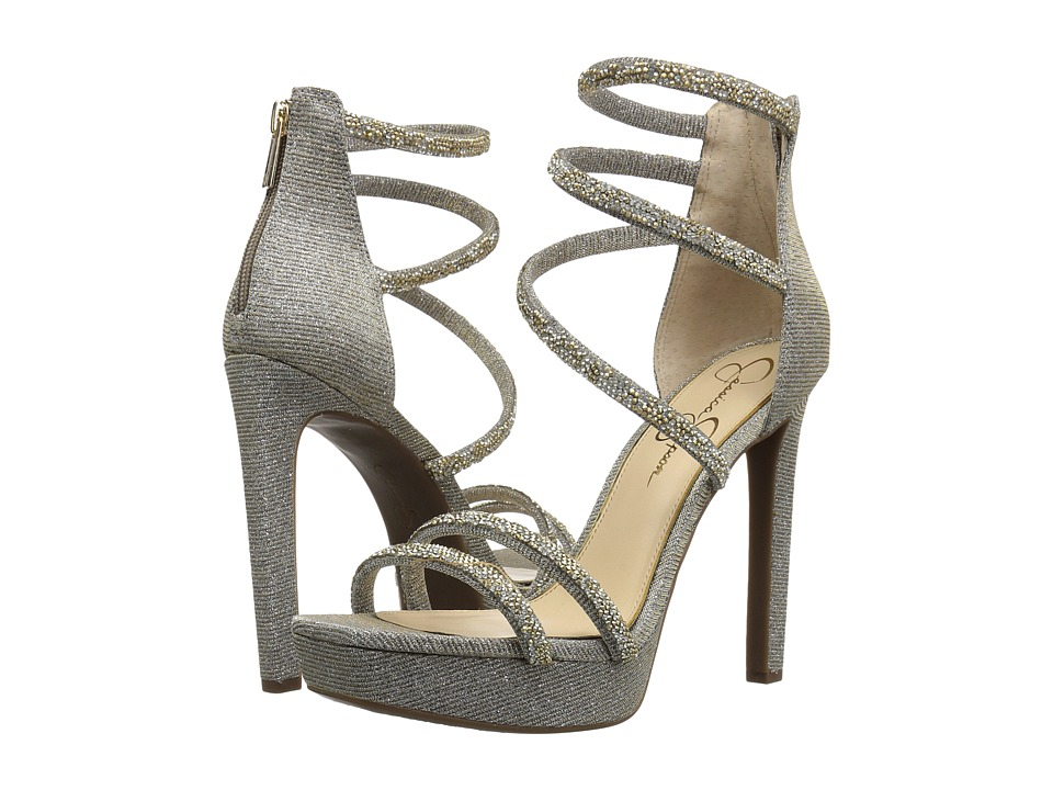 Jessica Simpson Beyonah (Gold Multi Glitter Gabor) High Heels