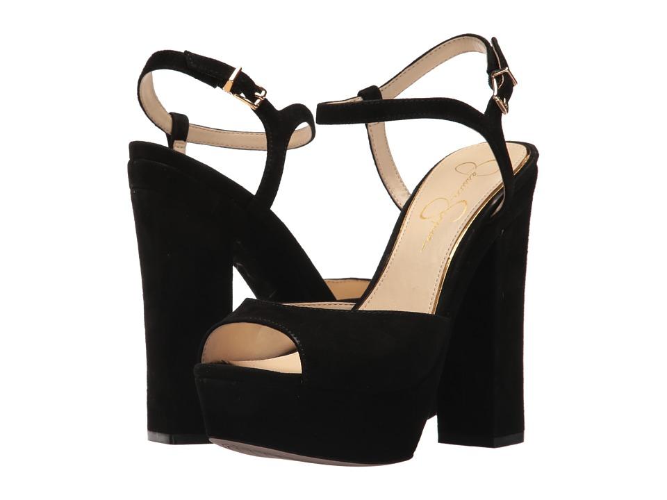 Jessica Simpson - Lorinna (Black Luxe Kid Suede) High Heels