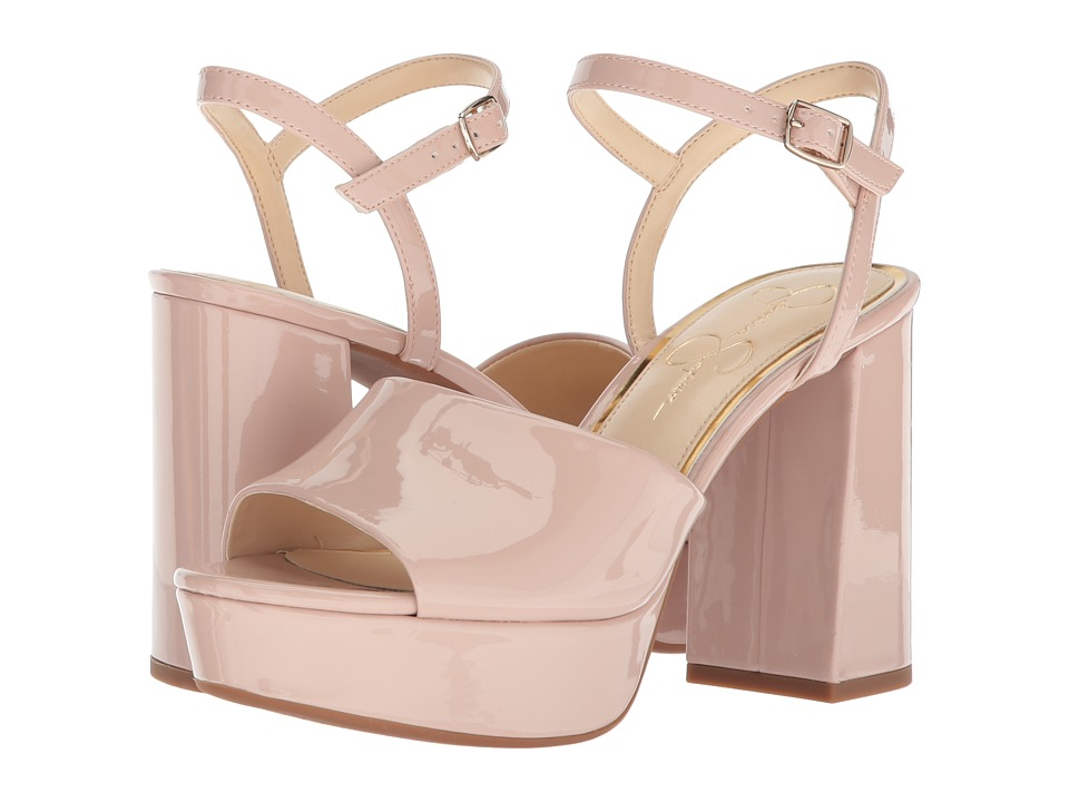 60s Shoes, Boots | 70s Shoes, Platforms, Boots Jessica Simpson - Kerrick Nude Blush Patent High Heels $62.99 AT vintagedancer.com