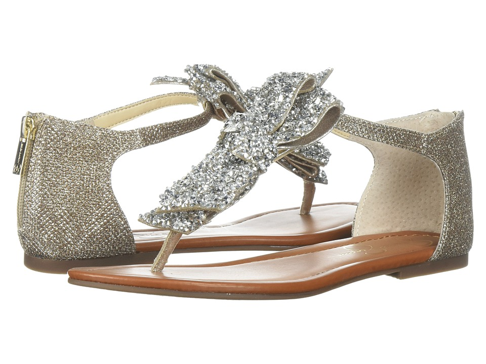 Jessica Simpson - Kellise (Gold Jessica Simpson Sparkle Mesh) Womens Flat Shoes