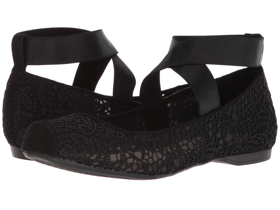 Jessica Simpson - Maggda (Black Femme Crochet) Womens Flat Shoes