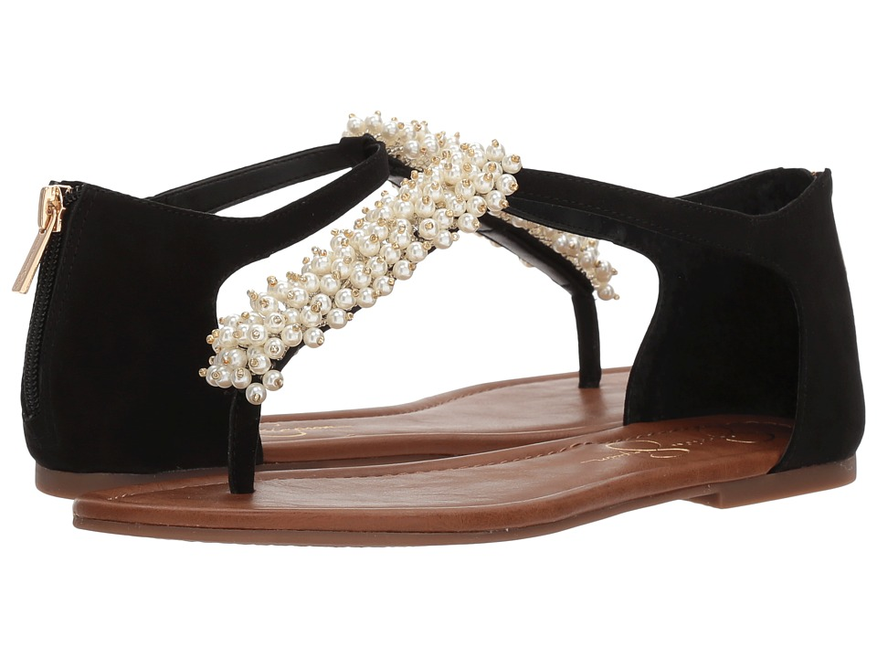 Jessica Simpson - Kenton (Black Microsuede) Womens Flat Shoes