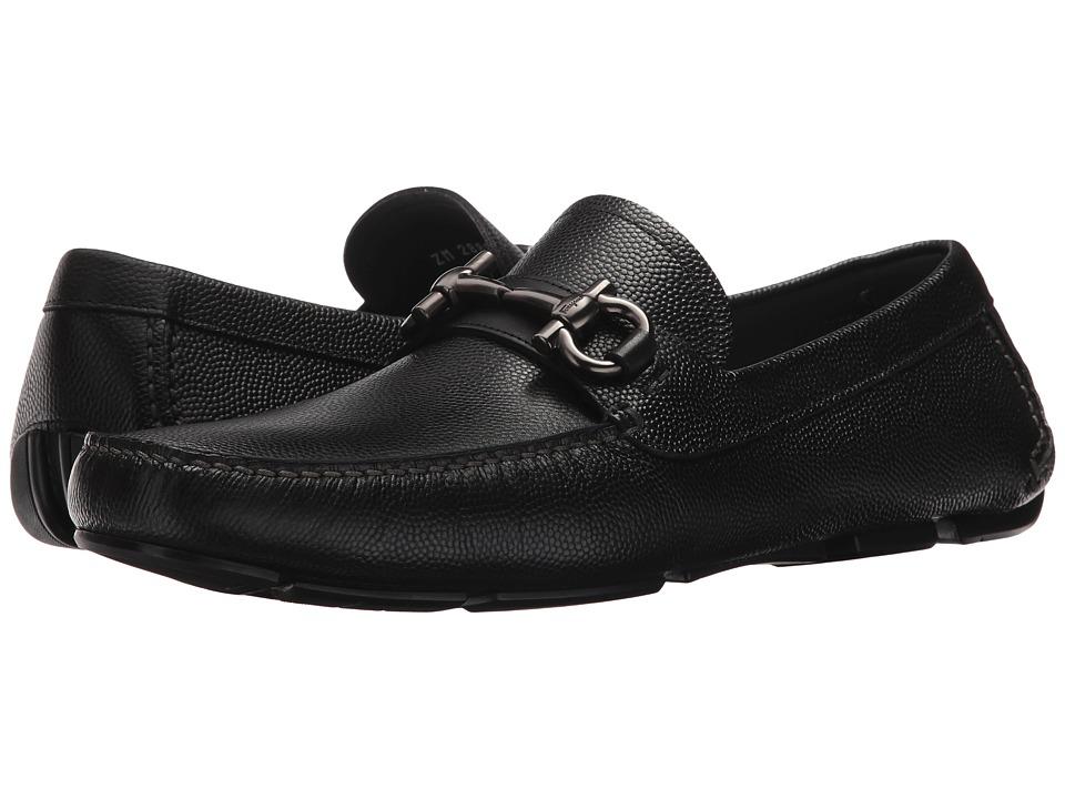 Salvatore Ferragamo Parigi Driving Loafer (Black) Men's S...