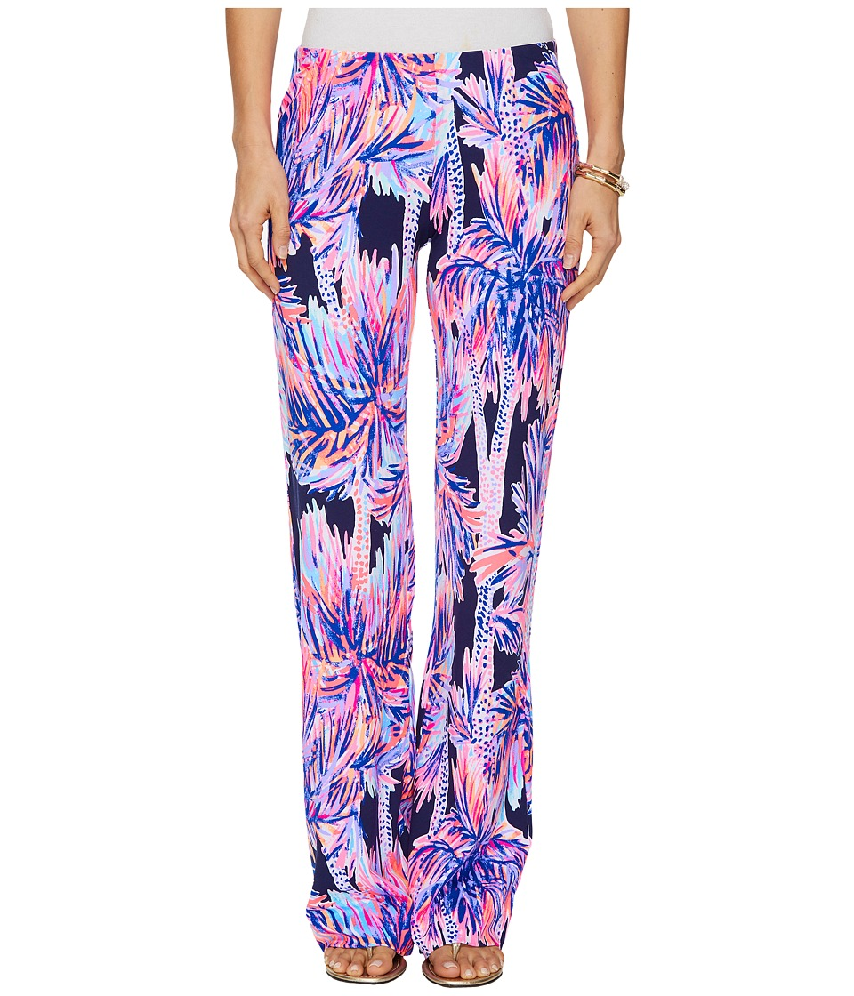 Lilly Pulitzer - Georgia May Palazzo (Bright Navy Palms Up) Womens Casual Pants