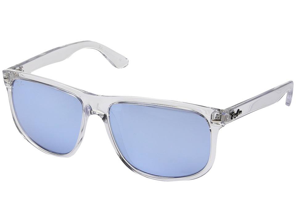 Ray-Ban - RB4147 Boyfriend 60mm (Transparent/Blue Flash Silver) Fashion Sunglasses