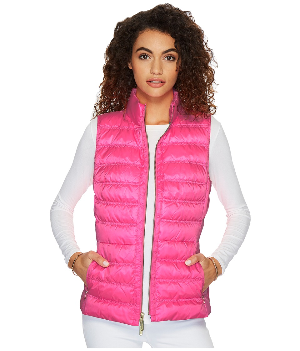 Lilly Pulitzer Elana Puffer Vest (Pink Sunset) Women