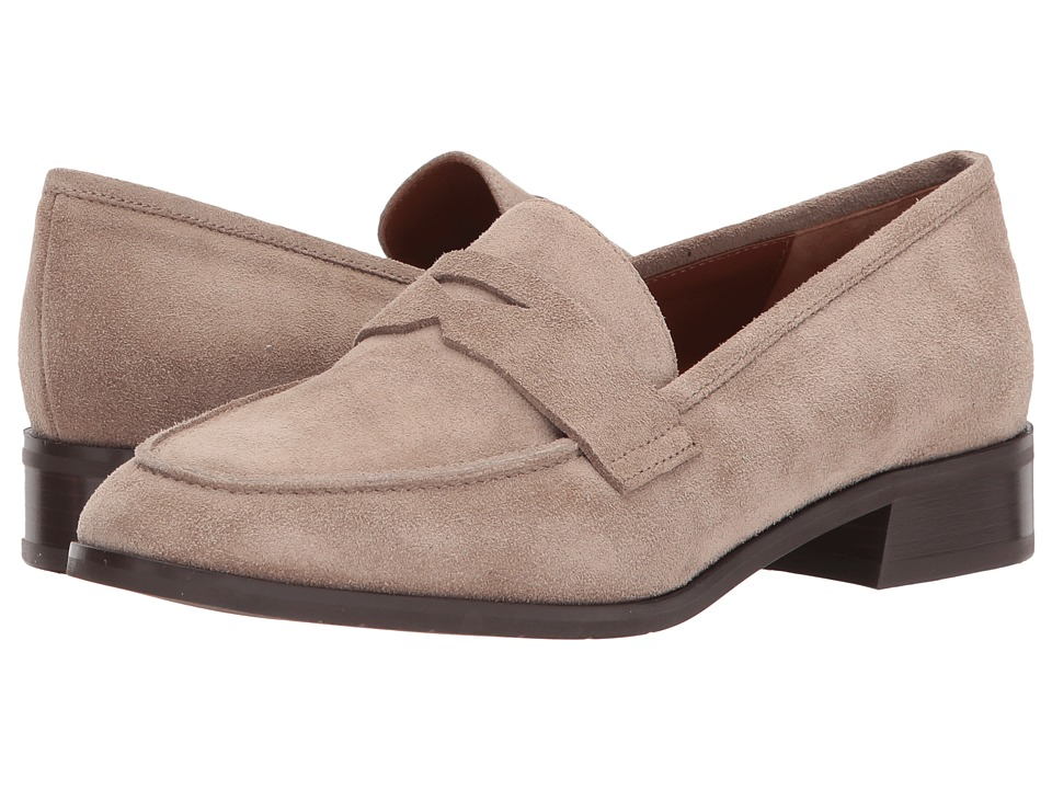 Aquatalia Sharon (Mushroom Suede) Women's Slip on  Shoes