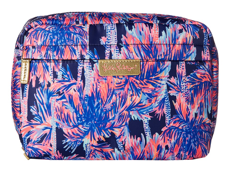 Lilly Pulitzer Travel Cosmetic Case (Navy Palms Up Access...