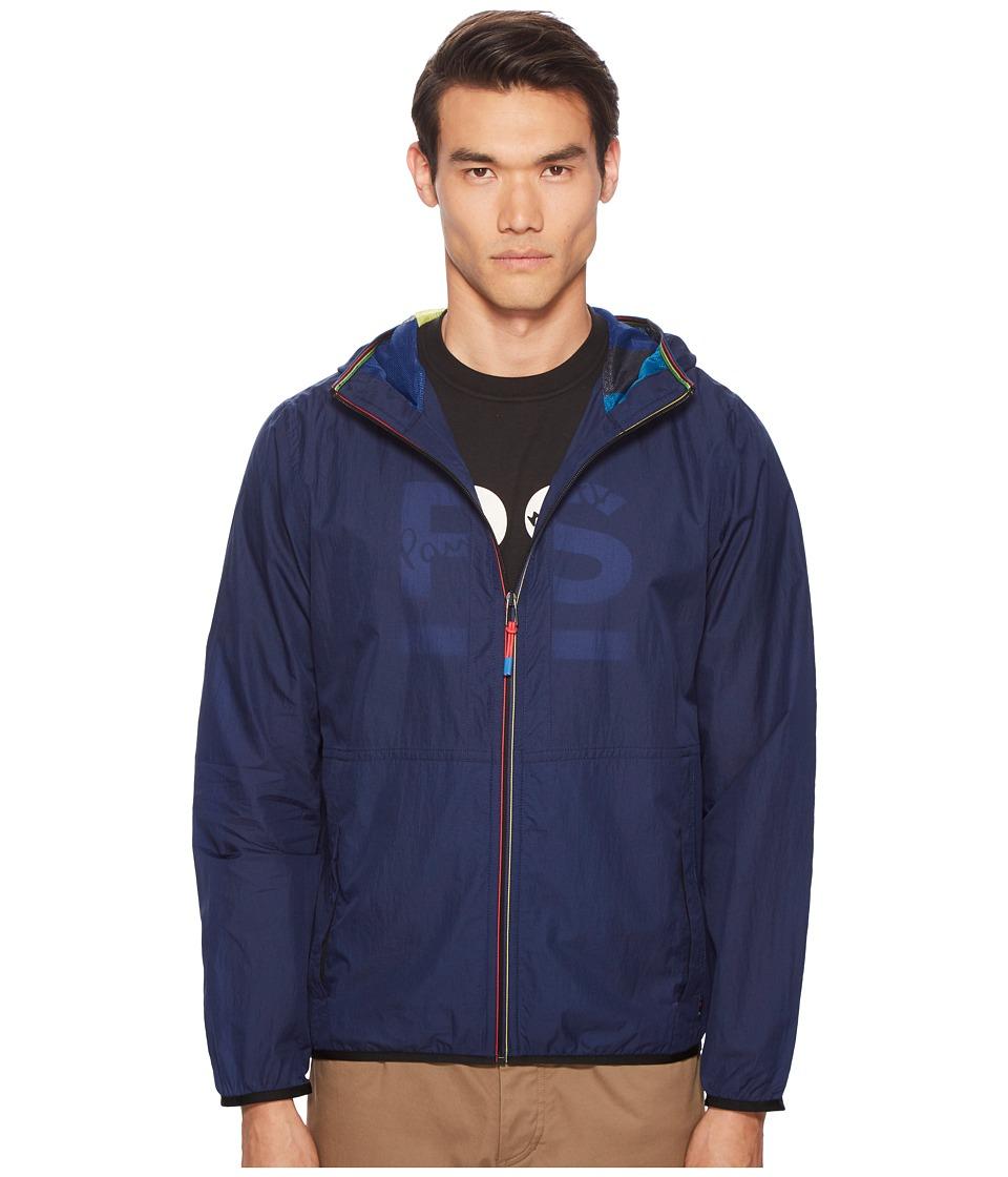 Paul Smith Nylon Hooded Jacket (Blue) Men