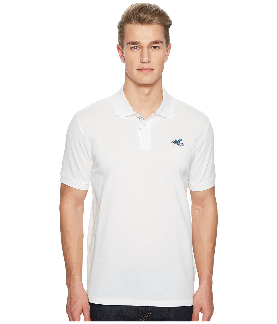 Paul Smith - Polo with Octopus (White) Mens Clothing
