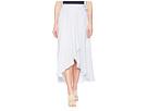 Tribal 37 Woven Crepe Long Wrap Skirt in White