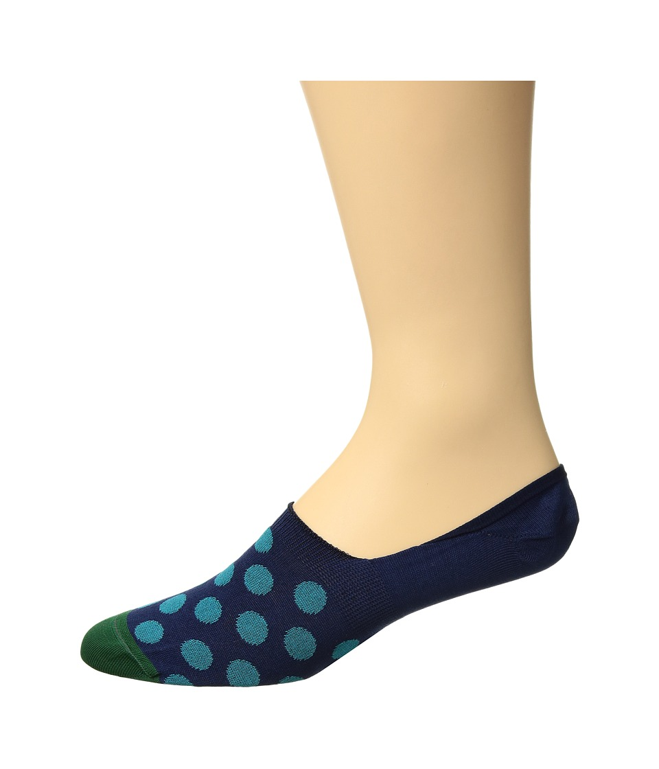 Paul Smith - Bright Spot No Show Sock (Navy Multi) Mens No Show Socks Shoes