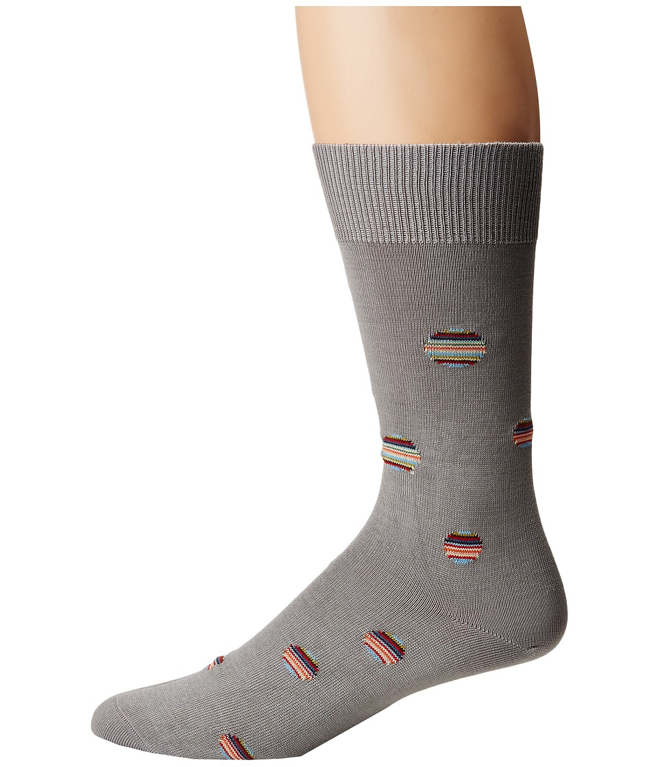 Paul Smith - Multi Polka Sock (Grey Multi) Mens Crew Cut Socks Shoes