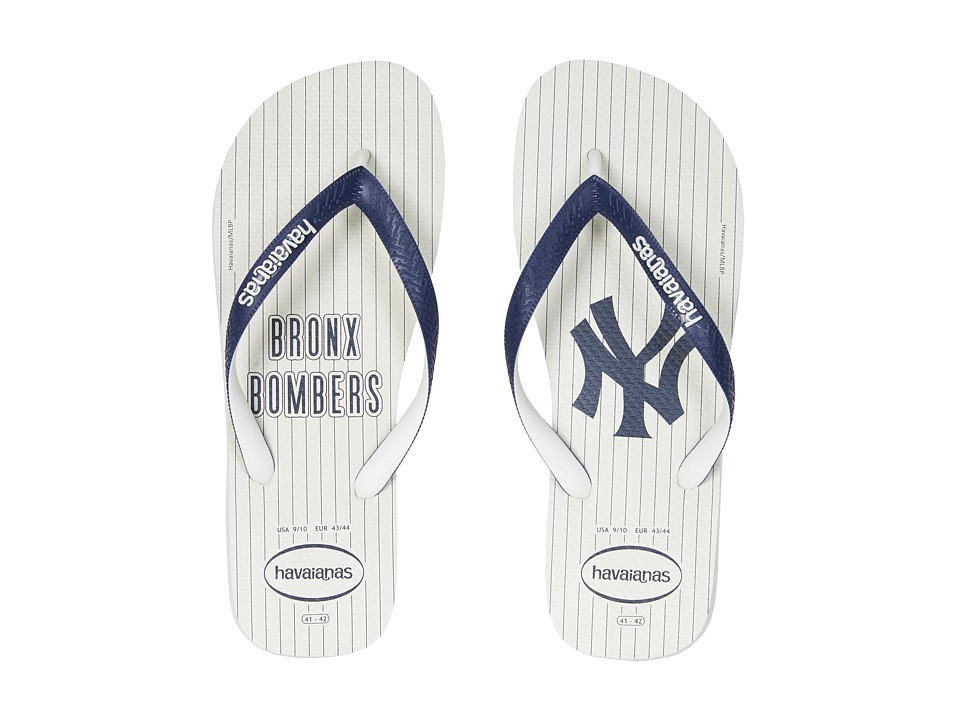 Havaianas - MLB Flip-Flops (White/White) Men's Sandals