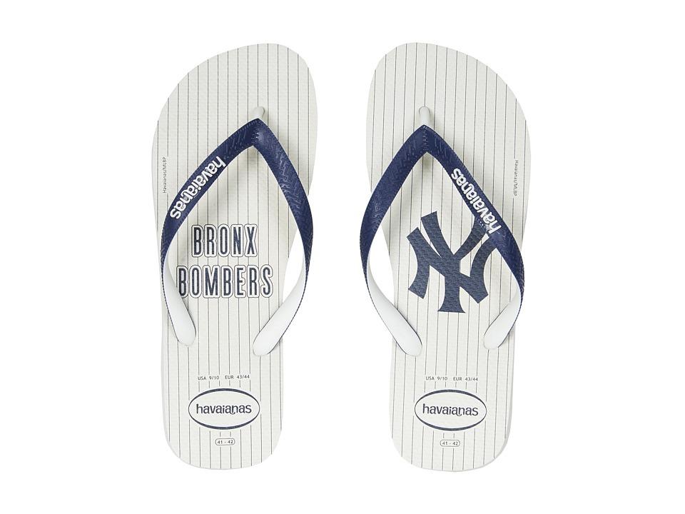 Havaianas - MLB Flip-Flops (White/White) Men's Sandals
