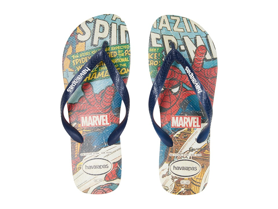 Havaianas - Marvel Spiderman Flip-Flops (Beige/Navy Blue) Men's Sandals