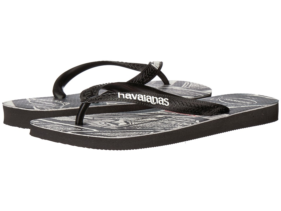 Havaianas - Top Marvel Black Panther Flip-Flops (Black) Men's Sandals