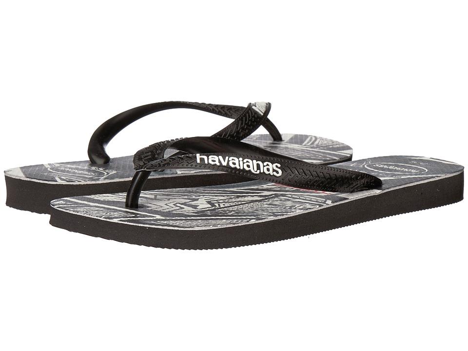 Havaianas - Top Marvel Black Panther Flip-Flops (Black) Men's Sandals