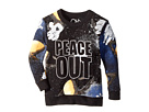 Chaser Kids Extra Soft Moon Man/Peace Out Long Sleeve Sweatshirt (Toddler/Little Kids)