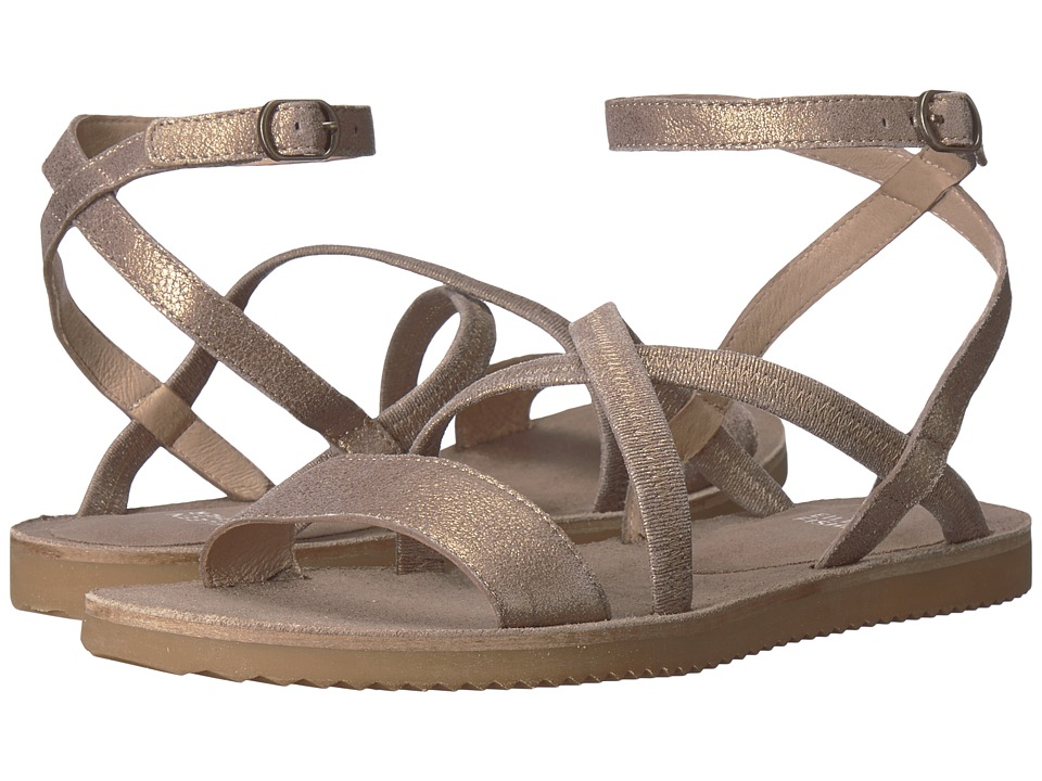 Eileen Fisher June (Platinum Metallic Suede) Sandals