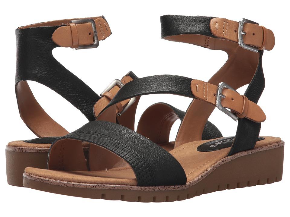 Comfortiva - Corvina (Black/Sand Cow Oily Veg/M-Vege) Womens Sandals