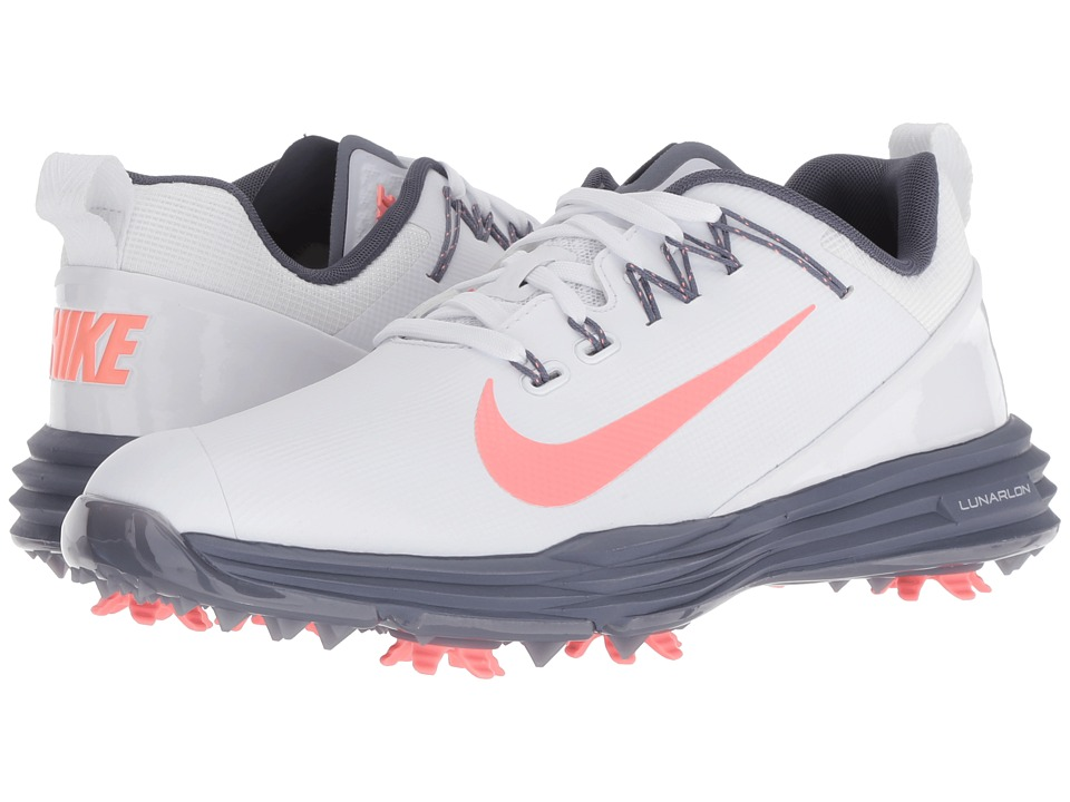 Nike Golf - Lunar Command 2 (White/Light Atomic Pink/Light Carbon) Womens Golf Shoes