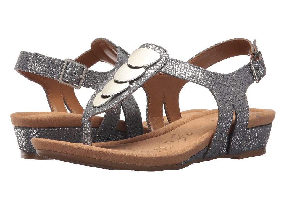 Comfortiva Summit (Pewter Shell Suede) Sandals