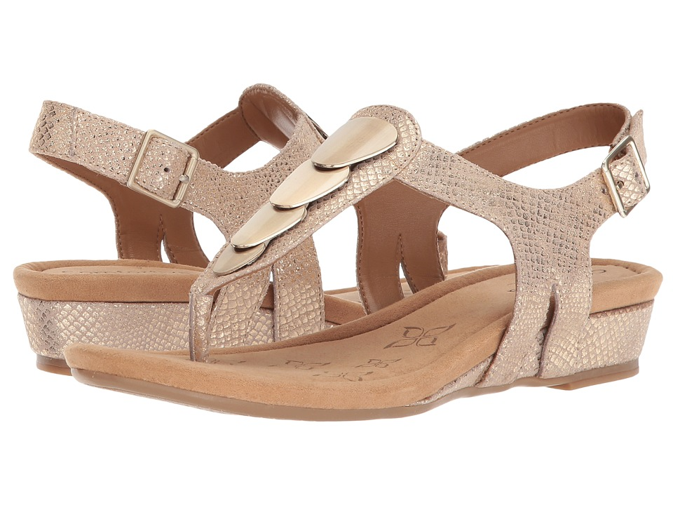 Comfortiva Summit (Gold Shell Suede) Sandals