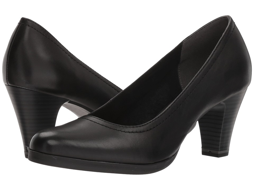 Tamaris - Pontius 1-1-22471-20 (Black Leather) High Heels