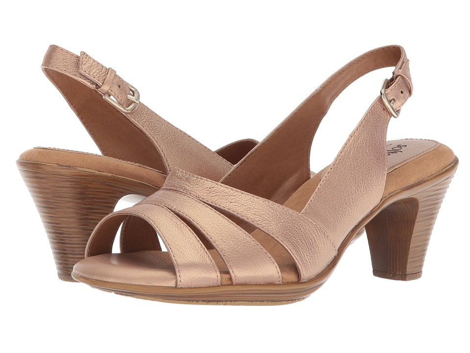 Comfortiva Neima - Soft Spots (Champagne Bruce Metal) Women's Dress Sandals