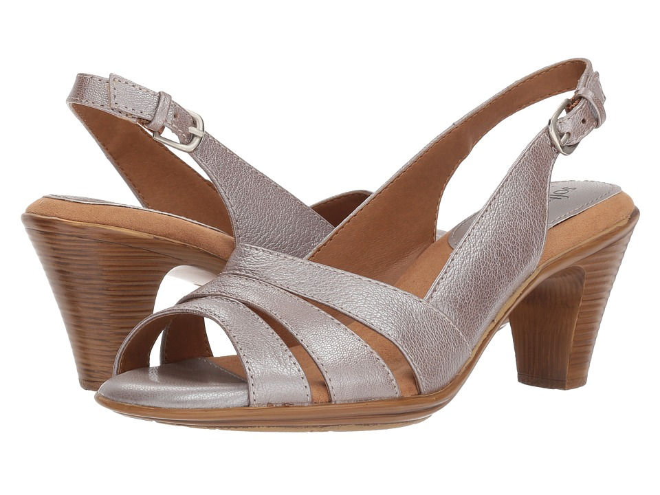 Comfortiva Neima - Soft Spots (Silver Bruce Metal) Women's Dress Sandals