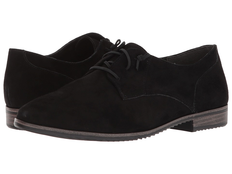 Tamaris - Pistil 1-1-23204-20 (Black Suede) Womens Lace Up Wing Tip Shoes