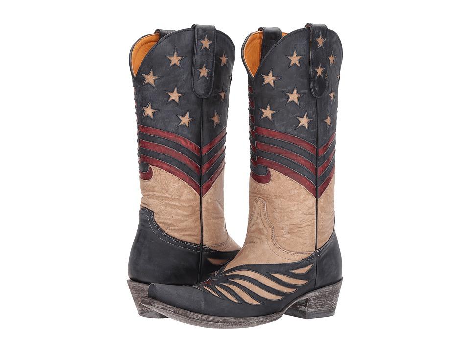 Old Gringo United (Red/Black/Bone) Cowboy Boots