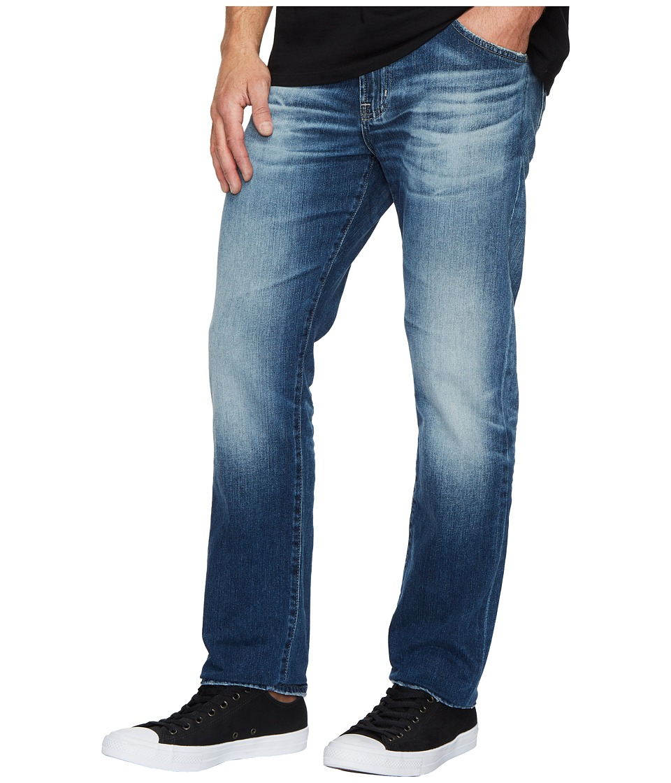 AG Adriano Goldschmied - Everett Slim Straight Leg Denim in 12 Years Maverick (12 Years Maverick) Mens Jeans