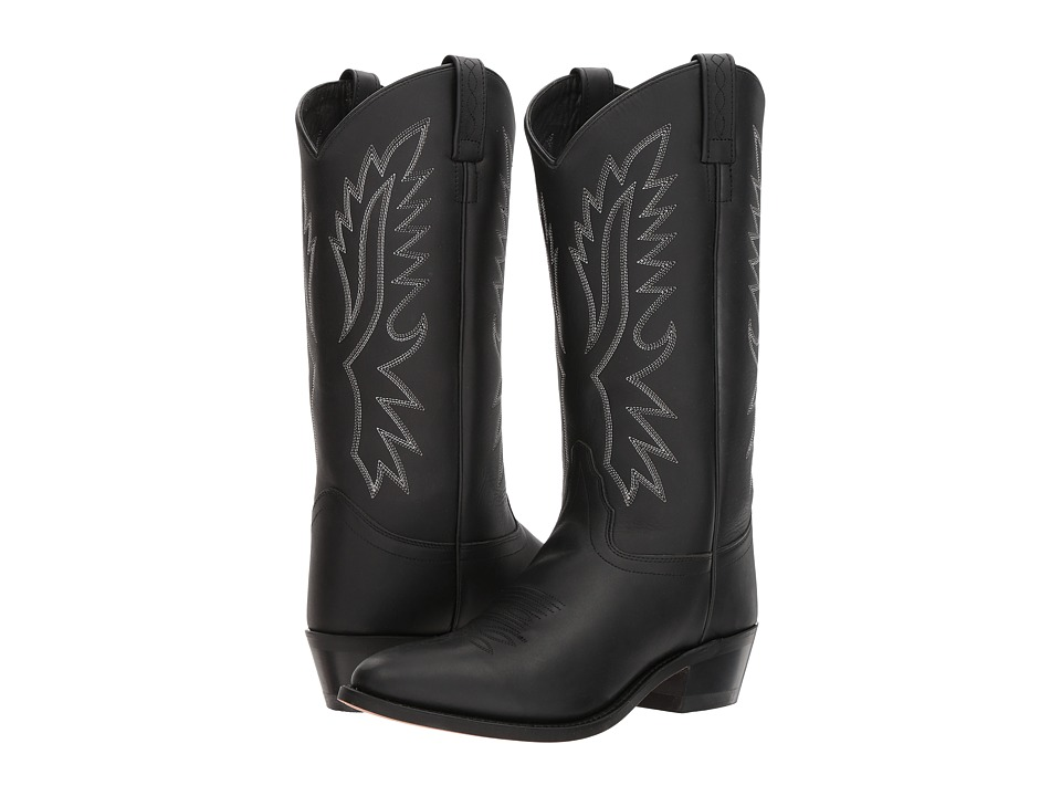 Old West Boots - Wyatt J Toe (Black) Cowboy Boots
