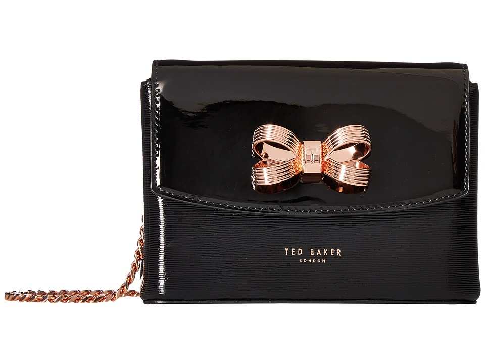 Ted Baker - Looped Bow Mini Crossbody (Black) Cross Body Handbags