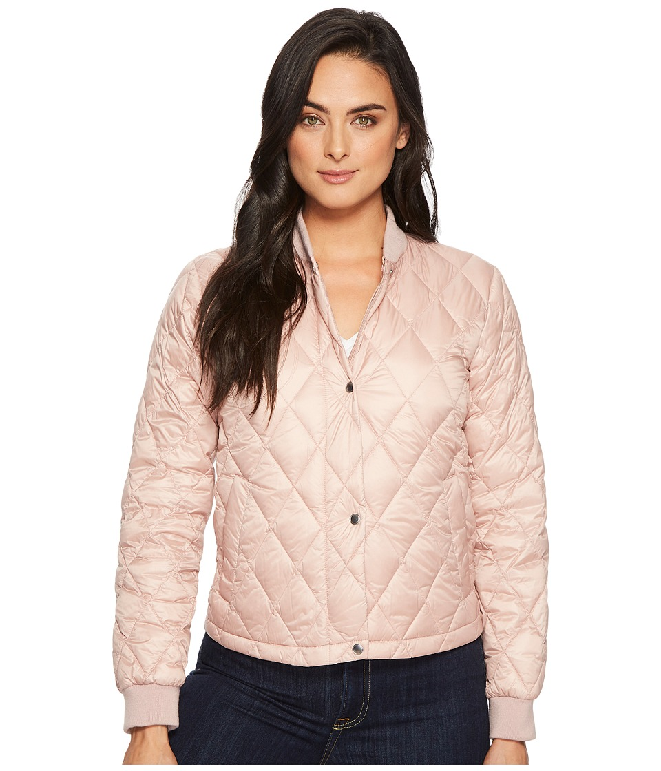 Cole Haan Diamond Quilted Shorter Bomber (Canyon Rose) Wo...