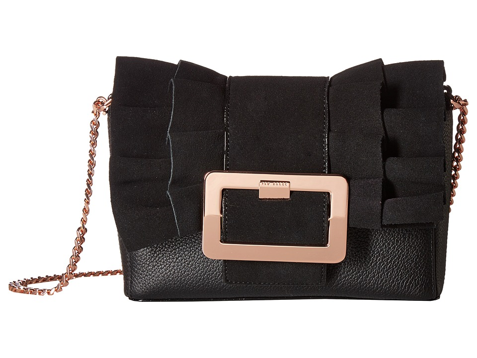 Ted Baker - Frill Buckle Clutch (Black) Clutch Handbags