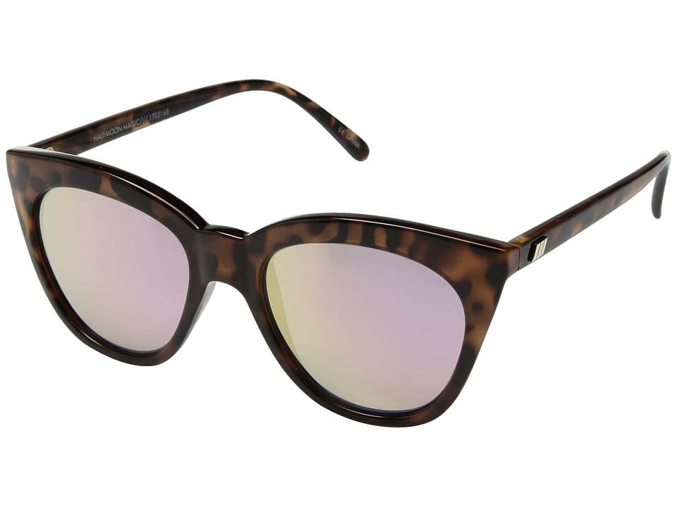 Le Specs - Halfmoon Magic (Tortoise/Pink Mirror) Fashion Sunglasses